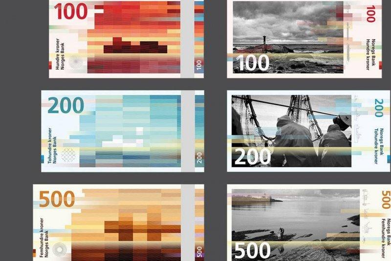 挪威的紙鈔採用漸層設計,非常漂亮(圖/ Norges bank)