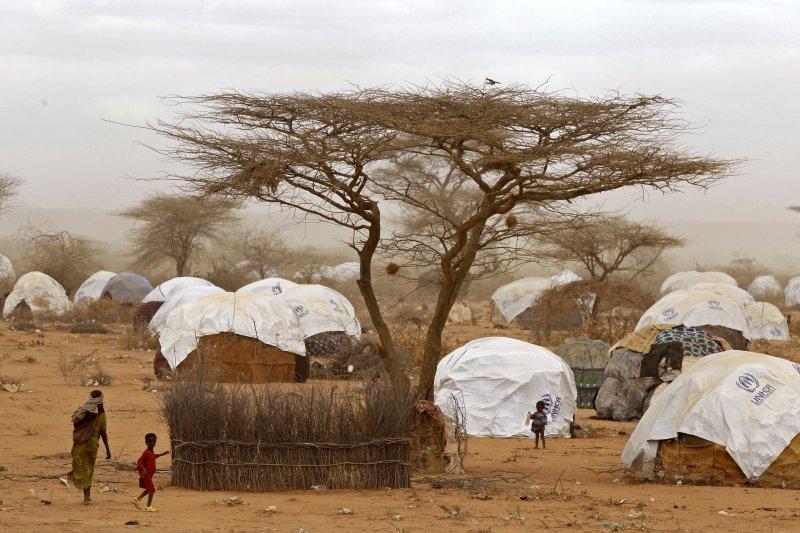 東非肯亞的達達阿布難民營中收容38萬名難民,大多數人來自索馬利亞。(美聯社)