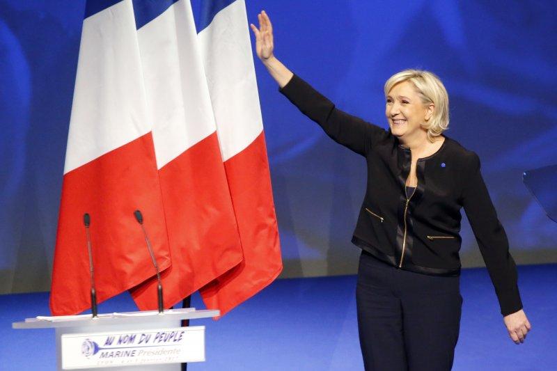 法國極右派「民族陣線」總統候選人勒潘(AP)