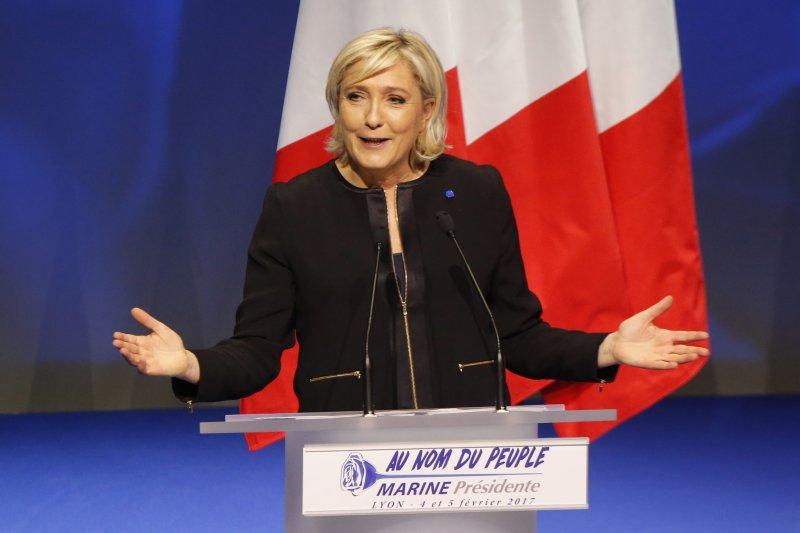 法國極右派總統候選人勒潘(AP)