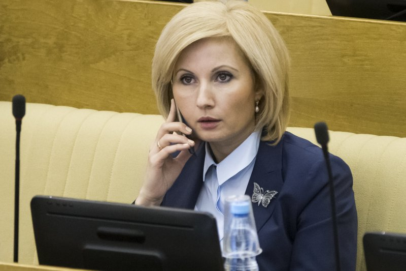 俄羅斯總統普京簽署新法,減免家暴慣犯的刑罰,圖為起草議案的國會議員巴塔琳娜(Olga Batalina)(AP)