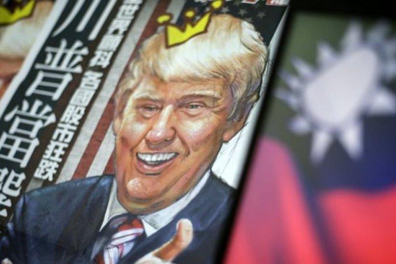 川普涉及台灣問題的言論也在台灣引起關注。(BBC中文網)