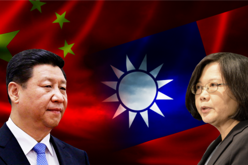 中國國家主席習近平和台灣總統蔡英文。(圖取自美國之音)