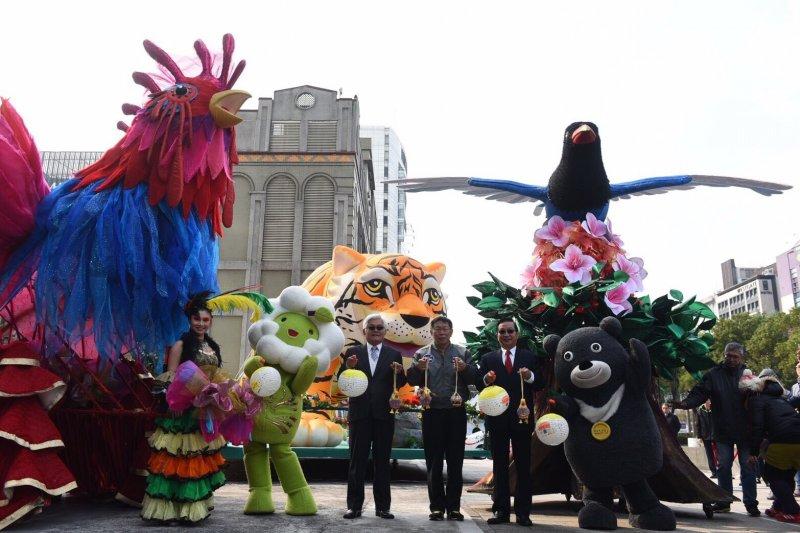 臺北市將贈送共同代表兩縣市的臺灣藍鵲造型花車到雲林展出。﹝台北市政府提供﹞