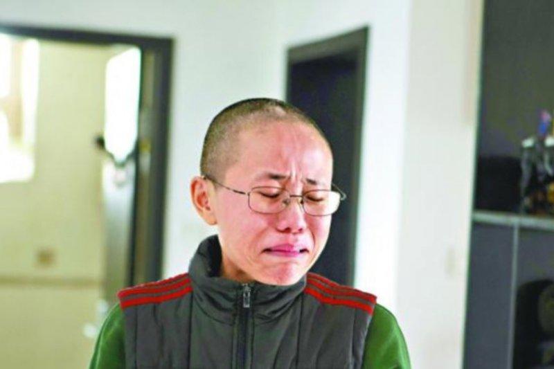 諾貝爾和平獎得主劉曉波的妻子劉霞。(美國之音)