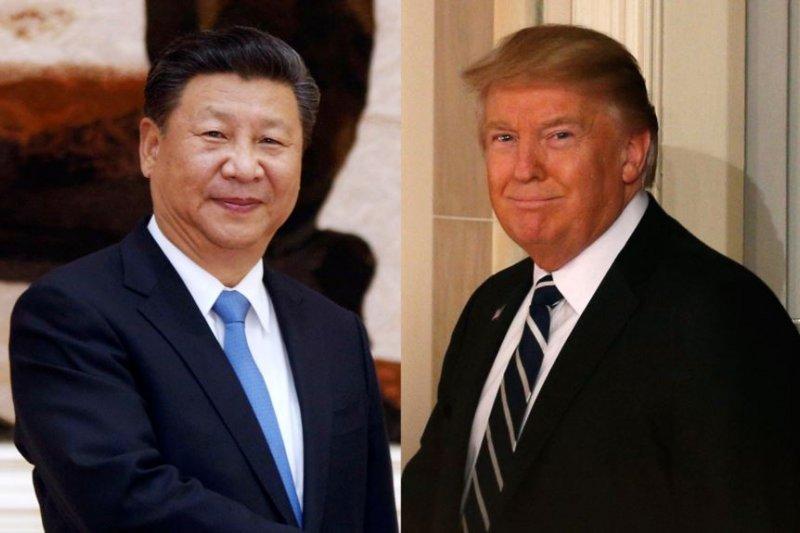 中國國家主席習近平和美國總統川普。(美國之音)