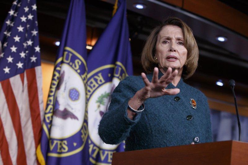 民主黨眾議院領袖佩洛西(Nancy Pelosi)。(美聯社)