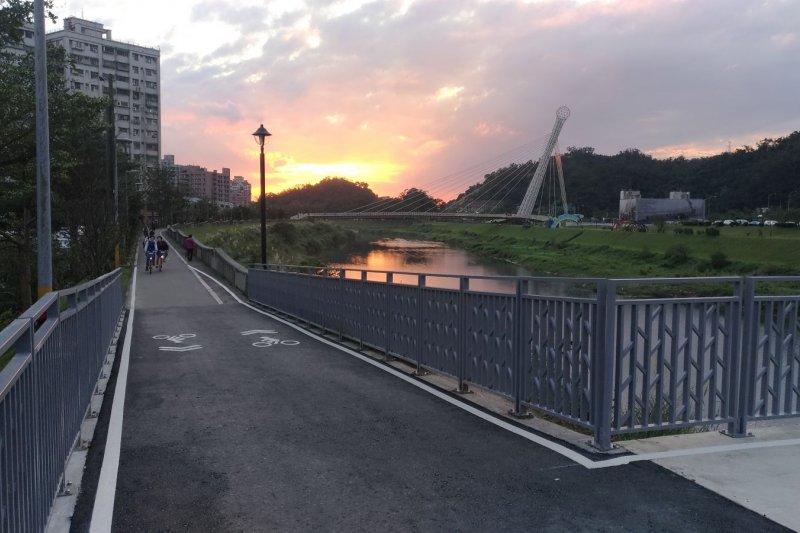 新北自行車道擴增,在基隆河上游延伸2公里。(取自新北市政府高灘地工程管理處)