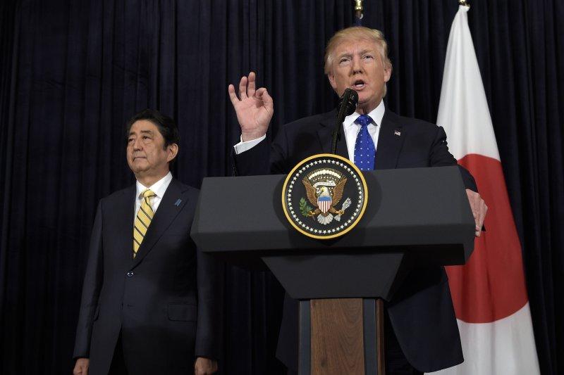 北韓試射飛彈威脅亞太和平,川普表示會力挺友邦日本。(美聯社)
