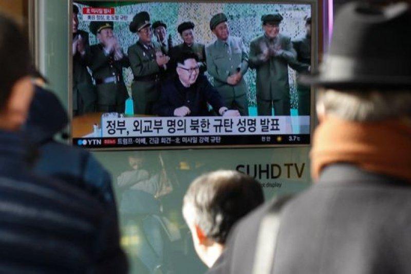 中國方面分析認為,北韓在川普上台後試射飛彈旨在給他一個「下馬威」。(BBC中文網)