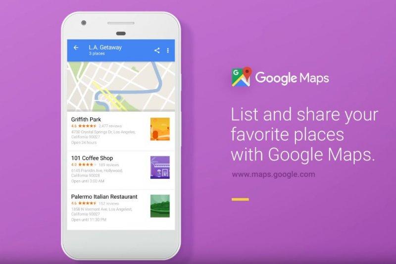 Google Maps再推新特色功能,讓用戶建立地點分類清單,更能夠分享給好友,看得出Google正在試圖嘗試「社群化地圖應用」的新方向。(翻攝自youtube)