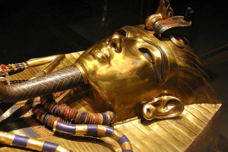 圖坦卡門黃金面具。(圖/ Egypt Archive@wikipedia)