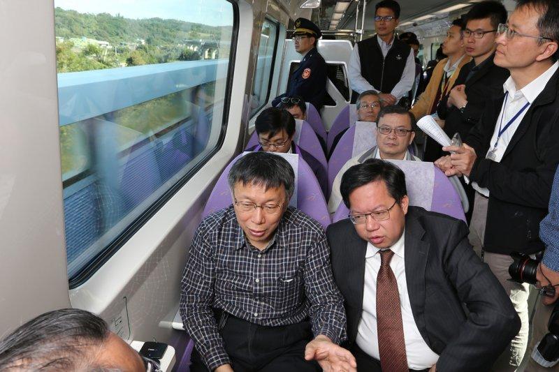 作者認為,台北市長柯文哲必須與鄭文燦看齊,人家可在「賺錢」了,北捷「本業」還在虧損,還得靠業外收入才有盈餘。(資料照,台北市政府提供)