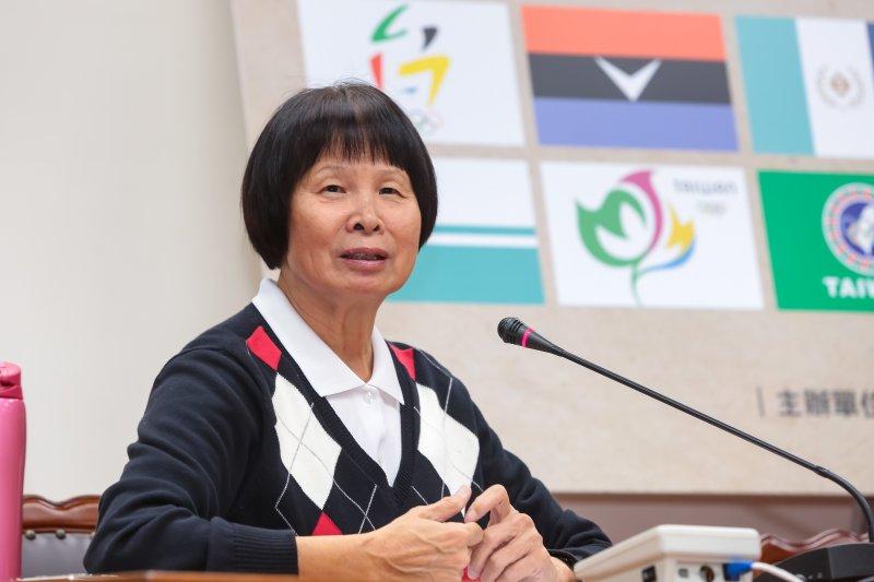 20170215-亞洲羚羊紀政15日出席「台灣奧運會旗,我來設計」得獎結果公佈記者會。(顏麟宇攝)