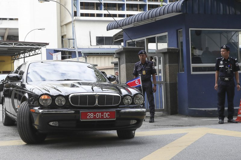 北韓官員14日前往吉隆坡中央醫院要求領回金正男的遺體,但遭大馬政府拒絕。(美聯社)