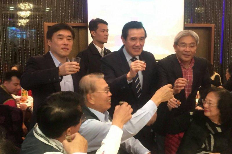 前總統馬英九、國民黨副主席郝龍斌18日晚間出席憲兵後備軍人新春團拜(郝龍斌辦公室)