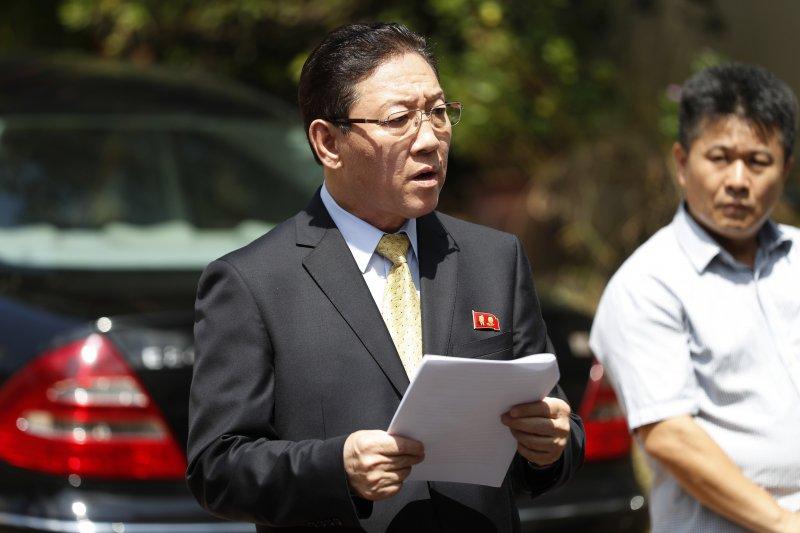 北韓駐馬來西亞大使姜哲。(美聯社)