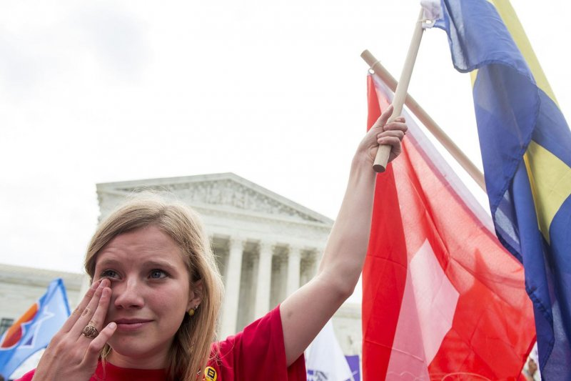 2015年6月26日,美國聯邦最高法院通過全美同性婚姻合法化,支持者歡天喜地(AP)