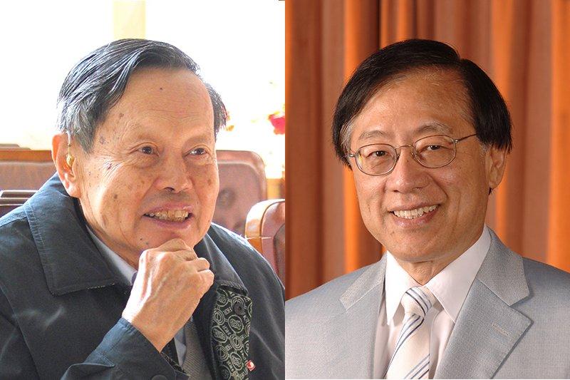 諾貝爾物理獎首位華人得主之一的楊振寧(左)和圖靈獎至今唯一華人得主姚期智(右)放棄外國籍,選擇入籍中國(風傳媒製圖)