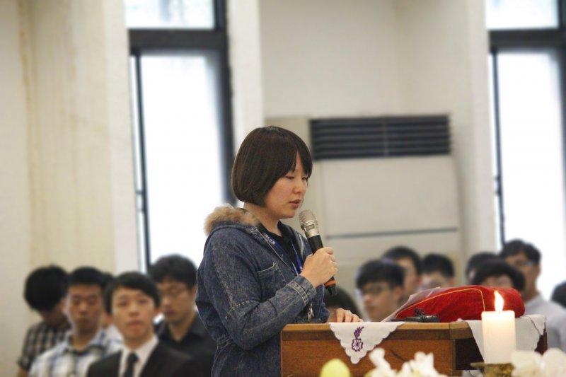 徐玉娥的女兒林映汝在喪禮上道出對媽媽的感謝與想念。(圖/牽猴子整合行銷股份有限公司提供)