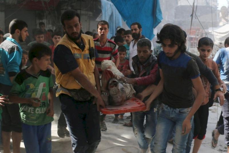 敘利亞內戰將屆滿6年,各方勢力在此廝殺,平民看不見曙光。(圖/AI)