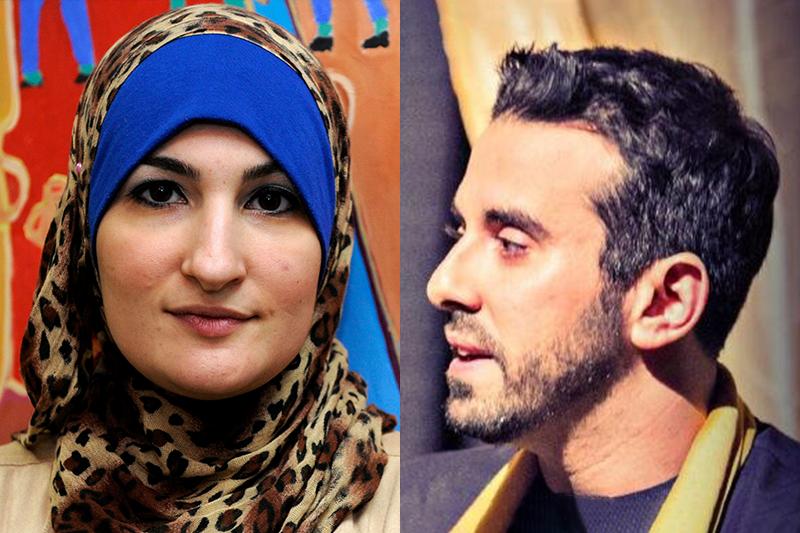 發起這次群眾募款的沙索(左)與梅西迪(照片:美聯社、Tarek El-Messidi推特/風傳媒合成)