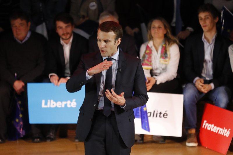 法國總統參選人馬克宏(Emmanuel Macron)(AP)