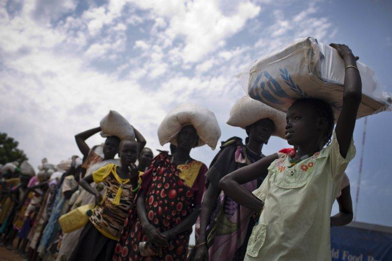 南蘇丹的饑民(AP)