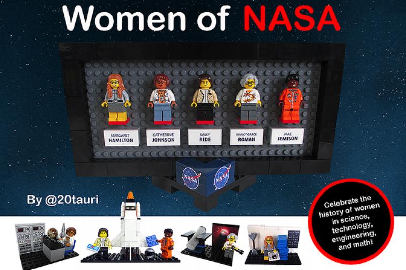 樂高即將推出「NASA女性」套組,向5位NASA女科學家致敬(取自Lego Idea官網)