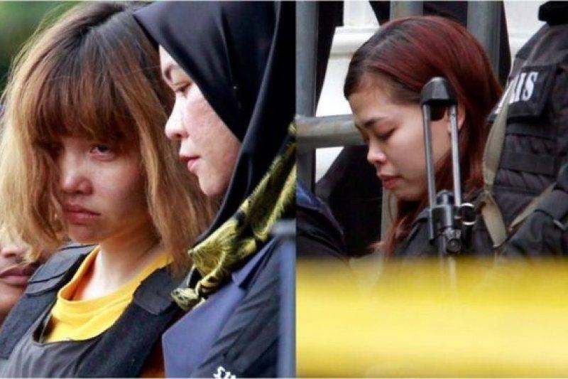 段氏香(左)和西蒂艾莎身穿防彈衣抵達法庭。(BBC中文網)