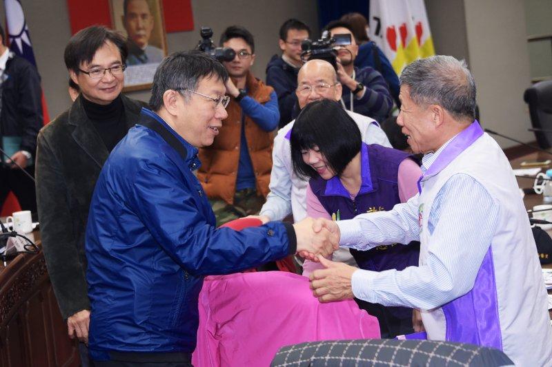 台北市長柯文哲表示,針對低收入戶補助政策可能產生的疏漏部分,個案由區長處理,通案則由府內討論找出解決之道。(台北市政府提供)