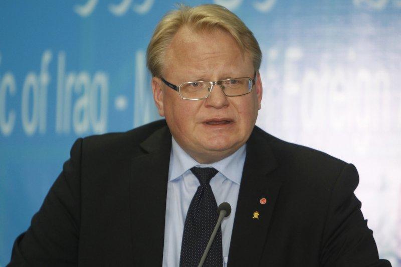 瑞典政府因應歐洲與周邊地區安全形勢惡化,決定恢復徵兵制,這是瑞典國防部長胡爾特奎斯特(Peter Hultqvist)(AP)