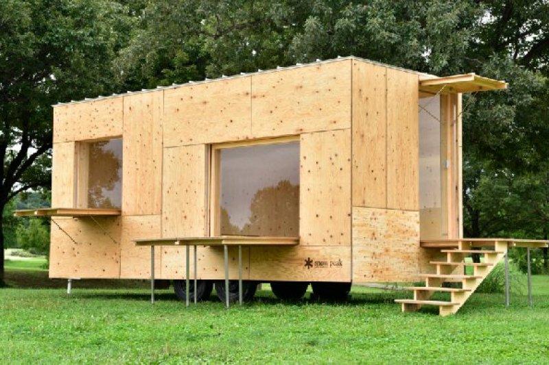 建築大師隈研吾與最大戶外露營專家 Snow Peak 繼上次合作「帳篷」後,再次攜手的最新力作「Jyubako住箱」,引領游牧住宅的新潮流。(圖/Kengo Kuma And Associates,MOT TIMES明日誌提供)