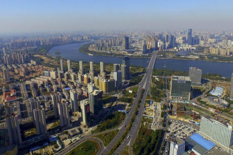 俯瞰瀋陽市區。(美國之音)