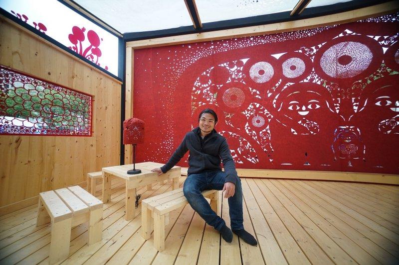 2017-03-05-台北燈節紅蛋區作品,由楊士毅打造的「家」將落腳台南市續展-取自北市府網站