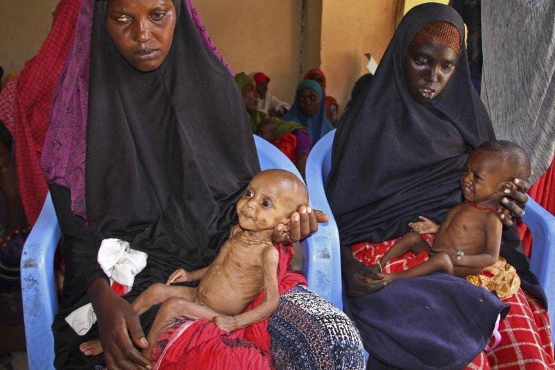索馬利亞在兩天內就有至少110人死亡,死者大多是兒童和婦女。(美聯社)