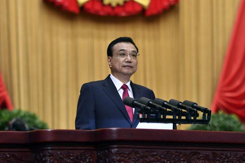 2017年中國「兩會」(全國人民代表大會、政治協商會議)在北京登場,全國人大第12屆第5次會議,李克強(AP)
