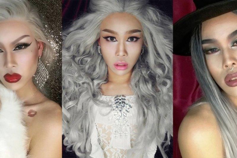 彩妝是堯蘭達的專業,不同的妝容表現了不同的情緒與角色。 (圖片來源/堯蘭達提供,陳昶安重製)