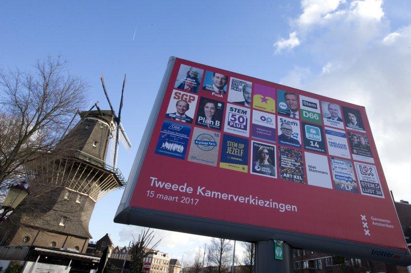 荷蘭國會選舉3月15日登場,極右派「自由黨」(PVV)聲勢看漲,領導人威爾德斯(Geert Wilders)挑戰總理大位。(AP)