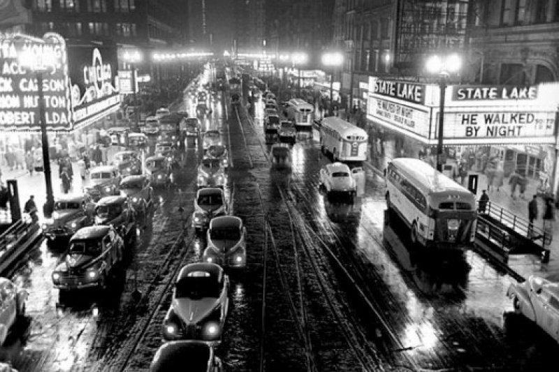 1949年,史丹利.庫柏力克為《展望》雜誌拍攝的芝加哥照片(Wikipedia/Public Domain)