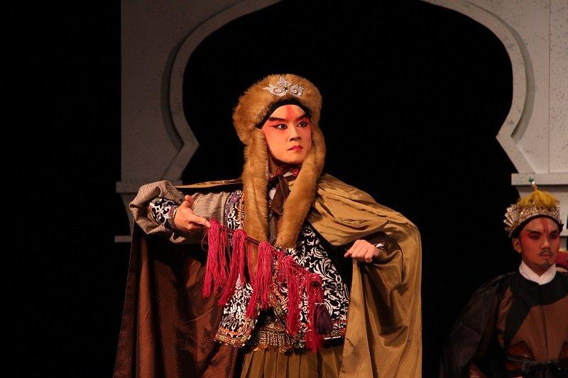 《香妃》一劇中,李家德飾霍集占。(台灣戲曲學院提供)