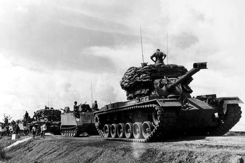 參與越戰的美國坦克。(wikipedia/public domain)
