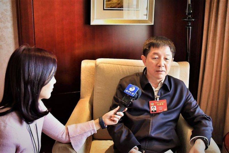 前國台辦副主任葉克冬接受專訪。(作者提供)