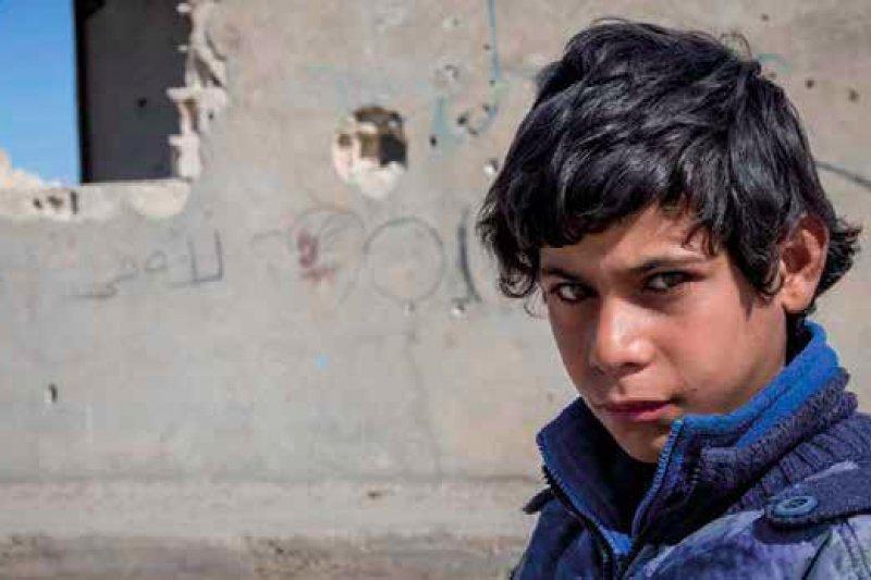 12歲的艾哈邁德三個月前才和他的家人從敘利亞逃出。(圖取自Save the Children)