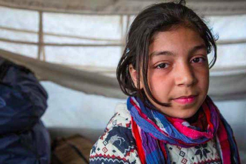 12歲的敘利亞女孩澤娜普(Zeinab)。(圖取自Save the Children)