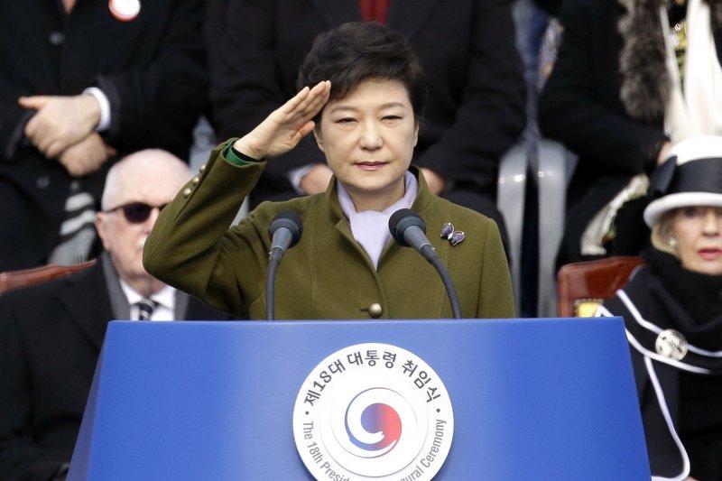 2013年2月25日,南韓時任總統朴槿惠宣誓就職(AP)