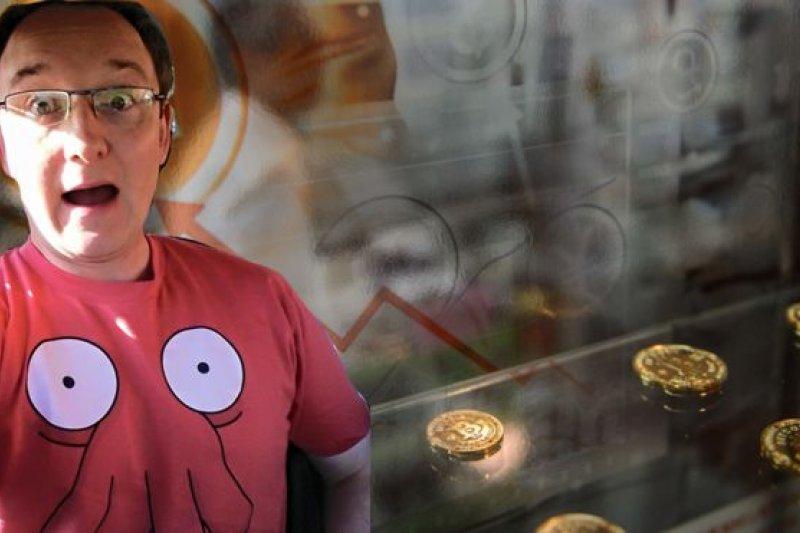 盧埃林和他的比特幣。(BBC中文網)