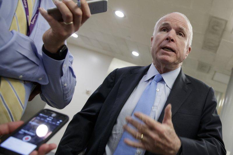 美國參議院軍事委員會主席、資深共和黨參議員馬侃(John McCain)。(美聯社)