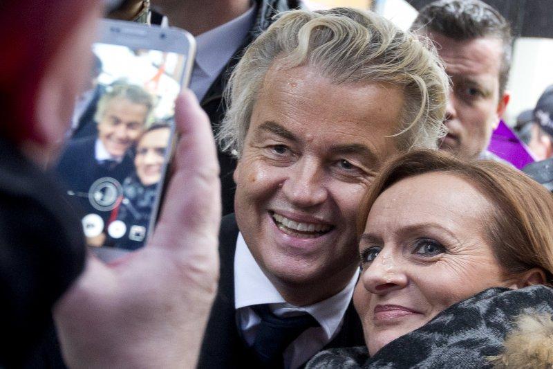 荷蘭國會大選:極右派「自由黨」(PVV)黨魁威爾德斯(AP)