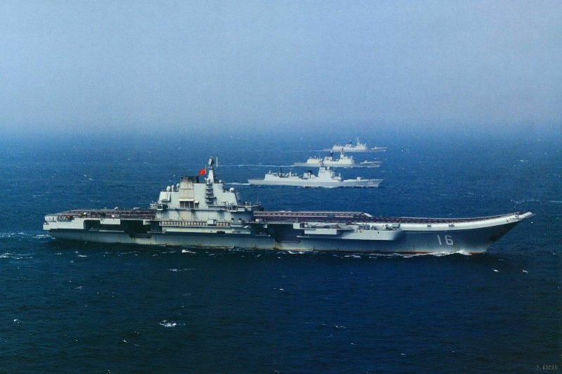 中國解放軍航母將從「近海防禦型」轉向「近海防禦與遠海護衛型結合」。(作者提供)